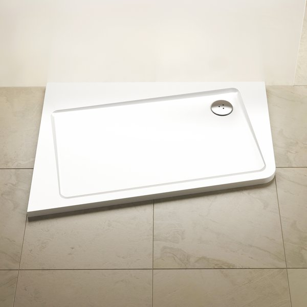 RAVAK Panel ASYMETRIC PRO 120x90 SET L 10° white